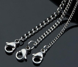 "Wholesale Thin Chain Link Necklace - Width 1.0mm 1.5mm 1.8mm 2.0mm 2.5mm 3.0mm 3.5mm 4.5mm Shinny 316L Stainless Steel Small Size Thin Tiny Curb Chain Necklace (18""-22"" inches)"