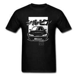 Wholesale Racing Car Shirt - T Shirt Men's JDM Datsun Silvia S15 Male Pure Cotton Race Car Printed T-Shirt Short Sleeve Shirt Designer Man Funny Tee Shirts