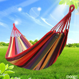 Wholesale Swings Chairs - Wholesale- Wholesale Swing Hanging Chair Outdoor 380G M2 Canvas Garden Hammock New SPT-003
