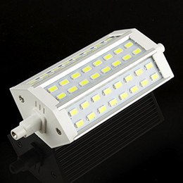 Wholesale 15w Cob R7s - Dimmable R7S 118mm 48 LED 5730 SMD White Warm White Energy Saving Floodlight Corn Light Replace Lamp Bulb 85-265V