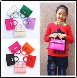 Wholesale Handbags Babies - New Candy Color Kid handbag Fashion PU Leather Messenger Bags Kids Girl Tote Baby Design Handbags Children bag Designer Child Purse KW-BA140