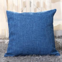 2019 cuscini di tiro superman 10pcs / lot pianura cotone colorato / misto lino bianco cuscino copertura federa di colore della caramella copertura del cuscino spesso 45 * 45 cm