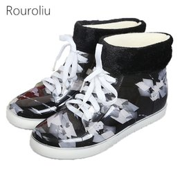 Wholesale Red Rainboots - New Arrivals Women Fashion PVC Lace-up Rain Boots Flat Heels Winter Warm Ankle Rainboots Colorful Water Shoes Wellies ZJ183