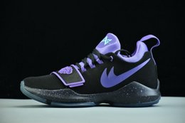 Wholesale Usa University - Paul George PG 1 Score In Bunches Low Zoom Men Basketball Shoes Adult Athletic PG I University Red Team USA Shining Sport Sneakers 40-46