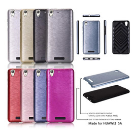 Wholesale Huawei Phone Housing - For LG X Power Case Luxury Brushed Metal PC+TPU Silicone Protective back cover case for lg k210 Huawei Honor 5A phone shell housing