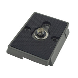Wholesale Quick Connect Adapters - Quick Release Plate 200PL-14 Plate for the RC2 Rapid Connect Adapter of MANFROTTO (Rubber Pad)