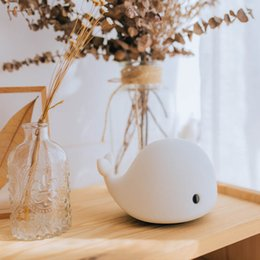 Wholesale Table Lamps For Children - Desk Night Lights Baby Room Whale Cartoon Night Light Kids Bed Table Lamp Sleeping Lamps With Bulb for Children Christmas Gift