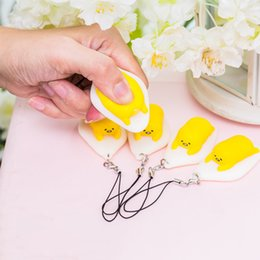 Wholesale Egg Squishy - Cute Universal Reduce Toy Fidget Reduce Stress Egg Squishy Squeeze Phone Strap Lanyard Pendant Phone Charms For All Smartphone