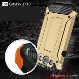 2019 custodia antiurto grand prime Armor Hybrid TPU PC Hard Case Ballistic Slim ShockProof Wave per Samsung Galaxy J710 J510 J120 2016 J7 J5 J1 Grand Prime G530 pelle Di lusso custodia antiurto grand prime economici