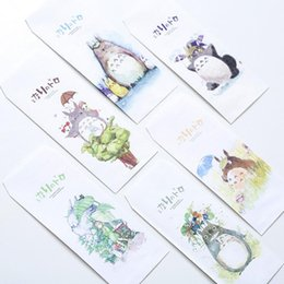 Wholesale Diy Envelope Card - Wholesale- S51 10X Fresh Cute Totoro Paper Envelope Gift Wrap DIY Tool Greeting Card Cover Giftbox Decor Letter Writing