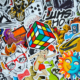 Wholesale Cooler Types - (Pack of 100 PCS) Stickers Skateboard Snowboard Vintage Vinyl Sticker Graffiti Laptop Luggage Car Bike Bicycle Decals mix Lot Fashion Cool