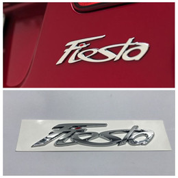 Wholesale Car Stickers Auto Emblem Decals - Fiesta ABS Logo Car Emblem Rear Trunk Lid Decal badge sticker For Ford Fiesta auto accessories