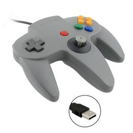 Wholesale Nintendo N64 - 2 Pieces LOT New USB Game Wired Controller Joypad Joystick Gamepad Gaming For Nintendo Gamecube for N64 64 Style PC Mac