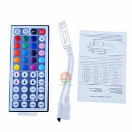 Wholesale Mode Keys - 50 piece DC12V 6A Mini RGB led controller with 44 Keys IR Remote Control Dimmer wireless for LED Strip 5050 3528 34 modes
