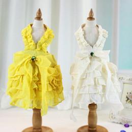 Wholesale Dog Apparel Fashion - New Fashion Pet Dress Cute Dog Apparel Skirt2 Color Pet Rose Wedding Dress Pet Princess Lovely Clothes Cloth FREE SHIPPING 4-315