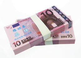 Wholesale Paper Art Gift - 100PCS EURO 10 Movie Props Money Poker Chips Bank Staff Training Learning Banknotes Home Holiday Decoration Arts Crafts Collectible Gifts