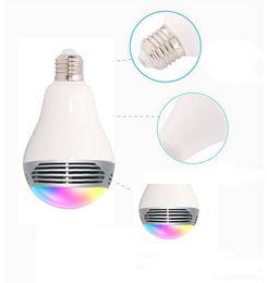 2019 alto-falante de mudança de cor Bulbo Inteligente Alto-falantes de Áudio Sem Fio Bluetooth LED RGB Luz Música Lâmpada LED Mudança de Cor Da Lâmpada através do Controle App alto-falante de mudança de cor barato