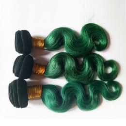 Бразильский волна тела девственные волосы ткать пучки перуанский малайзийский Индийский камбоджийский монгольский волос 3 шт. два тона 1B / зеленый Омбер 8-28 дюймов от