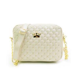 Wholesale Wholesale Female Leather Bag - 2017 Women Handbags Fashion Women Messenger Rivet Chain Shoulder Bag High Quality PU Leather Crossbody Small Flap Female Bags