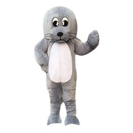Wholesale Lion Adult Costumes - Sea Lion Boy Mascot Costumes Cartoon Character Adult Sz 100% Real Picture