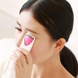 Wholesale Perms Eyes - Women Makeup Electric Heated Eyelash Curler Long Lasting Eye Lash Perm Heated Eyelashes Clip Make Up lashes Automatic Tool