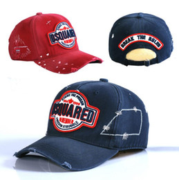 Wholesale Branded Caps - Branded Men's D2 Strike the prison Letters Caps Casquette Adjustable Cotton Embroidery Leisure Baseball Hats (3colors)