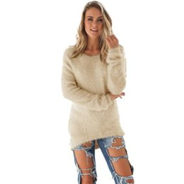Wholesale Wholesale Womens Winter Sweaters - Wholesale-New Arrival 1pc Autumn Winter Womens Casual Solid Long Sleeve Jumper Sweaters Blouse