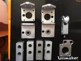 Wholesale Cnc Y - Reprap Prusa i3 rework 3d printer aluminum parts CNC metal Y-motor mount plate Z-AXIS bottom+TOP left right, corner holder