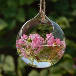 Wholesale Glass Terrariums - Ivolador Hanging Glass Flower Planter Vase Terrarium Container Home Garden-10cm