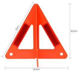 Wholesale Emergency Warning Triangle - Red Warning Sign Auto Car Safety Emergency Reflective Warning Triangle Raise Portable to Carry Prevent Rear-end Collision