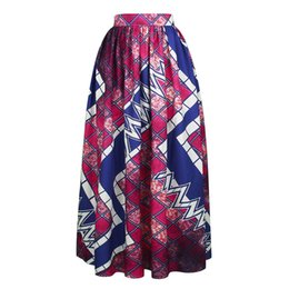 Wholesale Long Floral Skirts For Women - Spring Summer Woman Long Maxi Skirt African Dashiki For Women Bazin Riche Robe Longue Femme Plus Size Skirt African Print Clothes Clothing
