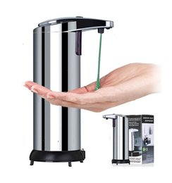 Wholesale Soap Shampoo Dispenser Shower - Home Washroom Stainless Steel Automatic Sensor Soap Dispenser Hand Sanitizer Shower Gel Shampoo Soap Machine