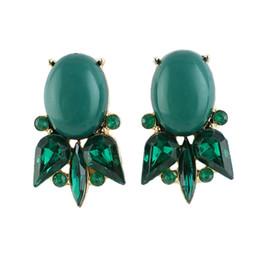Wholesale Imitation Gemstone Jewelry - Green Imitation Gemstone Small Stud Earrings Jewelry