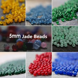 Wholesale Pearl Loose Stones - Hot Sell !Beads For Jewelry Making 2000pcs 5mm NEW Mix Color lava stone beads Loose Round Chic colorful Jade Beads DIY JewelryD044