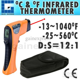 Wholesale Infrared Handheld Thermometer - IR-8560 Handheld Digital Non-Contact IR Thermometer -13~1040 F -25~560 C Range 12:1 Distance Spot Ratio + Built-in Laser Pointer