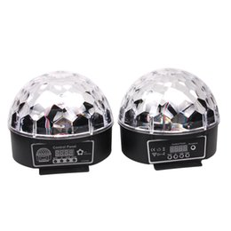 Wholesale Led Light Ball Party - Stylish 20W DMX Voice Activated RGB LED Crystal Magic Ball Laser Effect Light For Disco DJ Party Bar KTV Christmas Show 6 Mix Colors