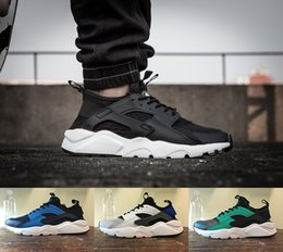 Wholesale Air 45 - 2017 Air Huarache IV Classical Triple White Black Ultra Huarache Shoes Men And Womens Huaraches sports Sneakers Running Shoes Size 36-45