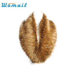 Wholesale Faux Pashmina Scarves - Wholesale- Womail 2015 Hot Collar Scarf winter Womens Faux Fur Stole Scarves Shawls solid color