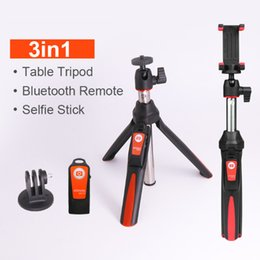 Wholesale Benro Tripods - BENRO Handheld Tripod 3 in 1 Self-portrait Monopod Extendable Phone Selfie Stick with Built-in Bluetooth Remote Shutter