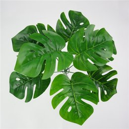 Wholesale Small Leaves Plants - Wholesale- Wedding Decoration Artificial Green Plants Plastic Fake Flower Leaves Mini simulation small potted green plant taro leaves