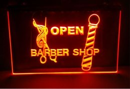 Wholesale neon light sign car - OPEN Barber car beer bar pub club 3d signs led neon light sign man cave