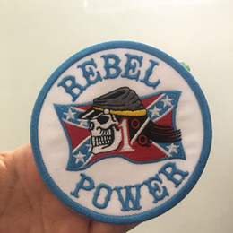 Trasporto ribelle online-Vendita calda Rebel Power MC Biker Ricamato il Ferro Sul Patch Sew On Motorcyble Club Badge MC Biker Vest Patch Emblem Spedizione Gratuita