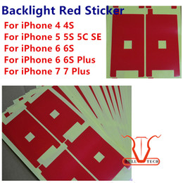Wholesale Iphone 4s Lcd Display Back - Backlight Red Sticker Film For iphone 7 6s 6 plus 6G 5S 5 5C SE 4S LCD Screen Display back light Adhesive Refurbishment