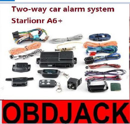 Wholesale two way auto car alarm - 2017 New Arrival Free shipping Two-way car alarm system Starlionr A6+ without auto start 2 way auto alarm system Starlionr A6+