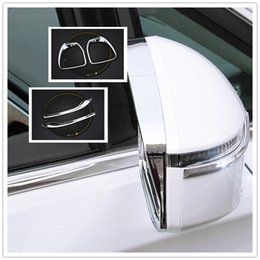 Wholesale Buick Mirrors - 2017 Buick GL8 Chrome Side Door Exterior Rearview Mirror Cover Trim Molding Overlay Strip Decoration Rain Shield Sun Visor Shade Covers