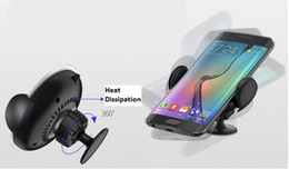 Argentina Cargador inalámbrico universal rápido Stand Qi Cargador inalámbrico rápido Cargador de aire de salida para Galaxy S7 S7 edge Galaxy S6 y Qi-Enabled Suministro