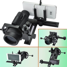 Wholesale Telescoping Digital Camera - Universal Digital Camera Cell Phone Bracket Support Holder Mount Spotting Scopes Telescope Adapter Multifunction