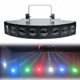 Wholesale Red Led Strobe Lights Bar - New 8 Heads CREE LED RGBW DMX Beam Digital Display Stage Lights Show Disco Bar Home Party DJ Lighting