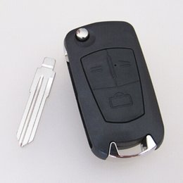 Wholesale Opel Vectra Key - 3 buttons modified flip folding remote key blank shell case for Opel Corsa Astra Vectra 10pcs lot