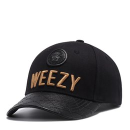 Wholesale Head Wear Cap - wholesale caps hats good stitchwork WEEZY hats hiphop sports wear summer new round head baseball hip hop young cap cycling hats